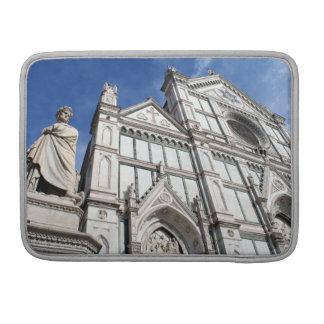 Santa Croce Basilica with the Dante Statue outside MacBook Pro Sleeve