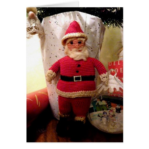 Santa Crochet - Card