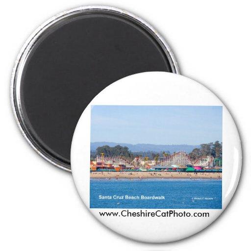 Santa Cruz Beach Boardwalk California Products 2 Inch Round Magnet