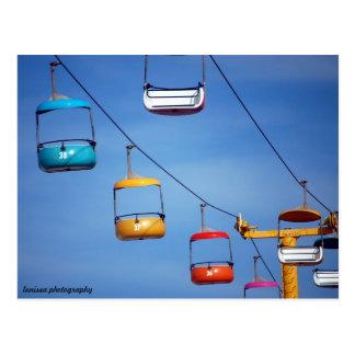 Santa Cruz Beach Boardwalk Tram Postcard