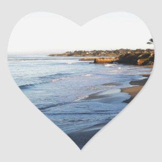 Santa Cruz Beach Heart Sticker
