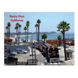 Santa Cruz Beach Train - Postcard