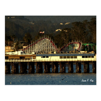 Santa Cruz Boardwalk & Wharf Postcard