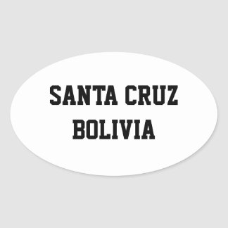 Santa Cruz Bolivia oval stickers