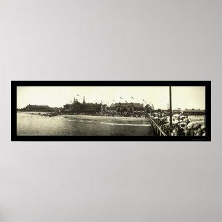 Santa Cruz CA Beach Photo 1908 Poster