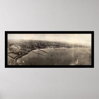 Santa Cruz CA Panorama Photo 1906 Poster