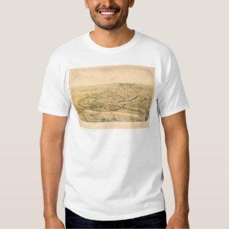 Santa Cruz, CA. Panoramic Map (1586A) - Restored T Shirt