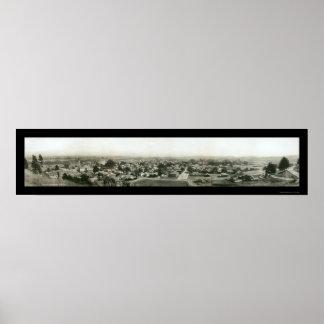 Santa Cruz CA Skyline Photo 1909 Poster
