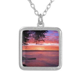 Santa Cruz, CA. Sunrise Silver Plated Necklace