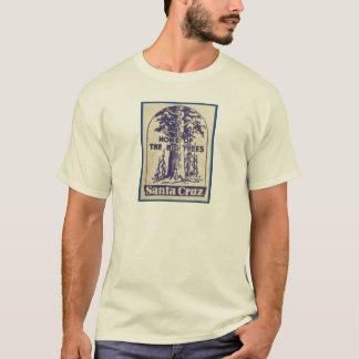 Santa Cruz Califonia - casero de los árboles Playera