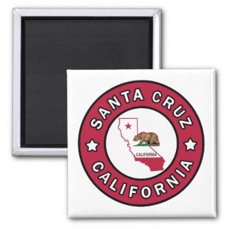 Santa Cruz California 2 Inch Square Magnet