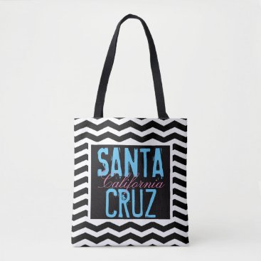 Beach Themed Santa Cruz California BCF Tote Bag