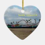 Santa Cruz California Adorno De Cerámica En Forma De Corazón