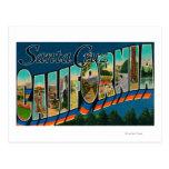 Santa Cruz, California - escenas grandes de la let Tarjetas Postales