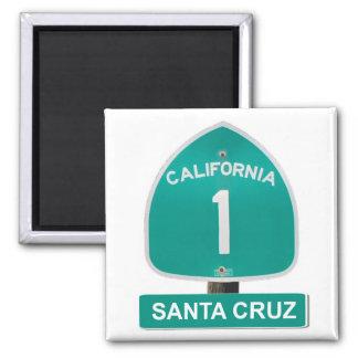 Santa Cruz California Highway 1 Magnet