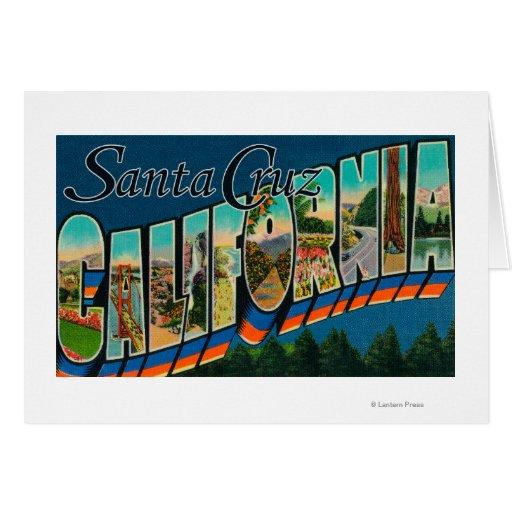 Santa Cruz, California - Large Letter Scenes Greeting Card