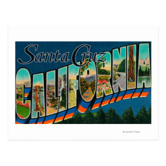Santa Cruz, California - Large Letter Scenes Postcard