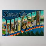 Santa Cruz, California - Large Letter Scenes Poster