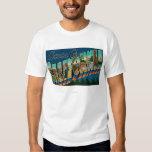 Santa Cruz, California - Large Letter Scenes Tee Shirt