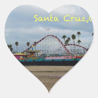 Santa Cruz California Pegatina En Forma De Corazón