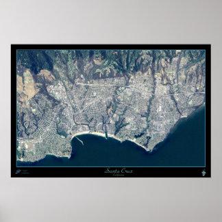 Santa Cruz, California satellite poster