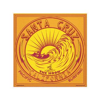 SANTA CRUZ CALIFORNIA SURFING CANVAS PRINT