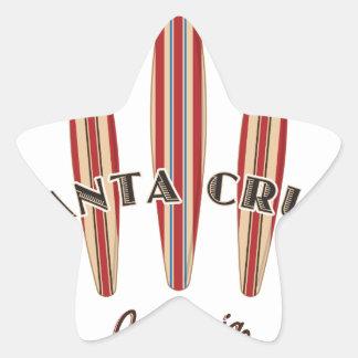 Santa Cruz California Three Surfboards Star Sticker