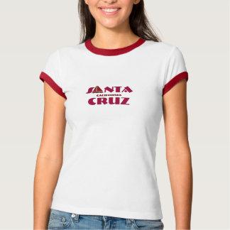 Santa Cruz, California - with red Sailboat Icon T Shirt