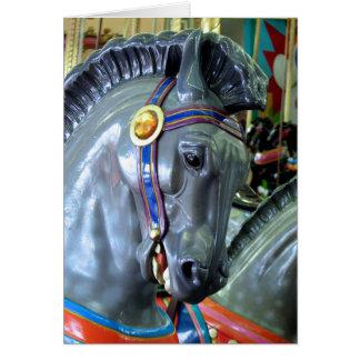Santa Cruz Carousel Horse Greeting Card