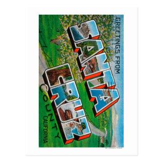 Santa Cruz County, California Postcard