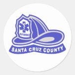 Santa Cruz County Paramedic Helmet Logo Classic Round Sticker