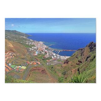 "Santa Cruz de La Palma Canary Islands Spain 5"" X 7"" Invitation Card"