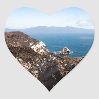 Santa Cruz Island Heart Sticker
