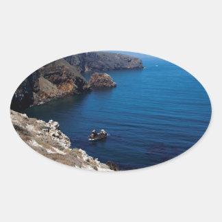 Santa Cruz Island Series 11 Oval Sticker