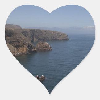 Santa Cruz Island Series 7 Heart Sticker