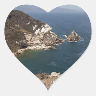Santa Cruz Island Series 8 Heart Sticker