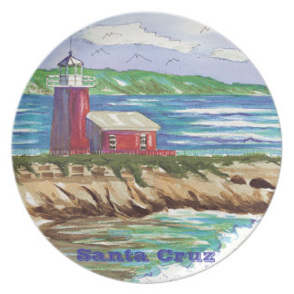 Santa Cruz Lighthouse plate