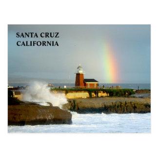 Santa Cruz Lighthouse/Rainbow-Postcard Postcard