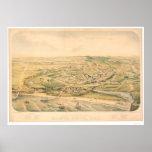 Santa Cruz, mapa panorámico del CA (1586A) - Unres Póster