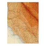 Santa Cruz quadrangle showing intensity, faults Postcard