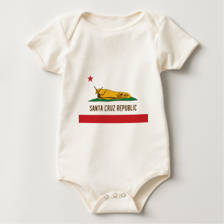 Santa Cruz Republic Banana Slug Flag Baby Bodysuit