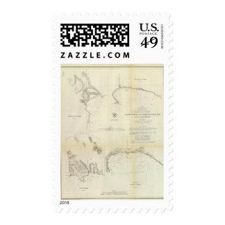 Santa Cruz, San Simeon, Coxo, San Luis Obispo Stamps