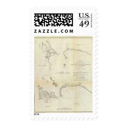 Santa Cruz, San Simeon, Coxo, San Luis Obispo Postage Stamp
