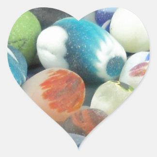 Santa Cruz Sea Glass Heart Sticker
