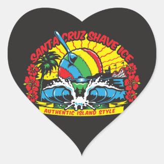 Santa Cruz Shave Ice Logo Heart Sticker