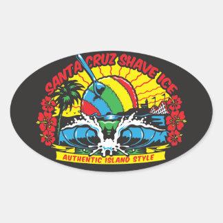 Santa Cruz Shave Ice Logo Oval Sticker
