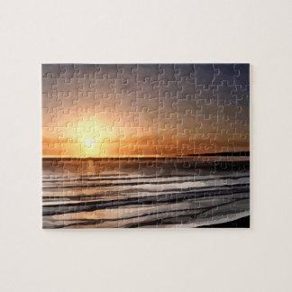 Santa Cruz Sunset painting Jigsaw Puzzle