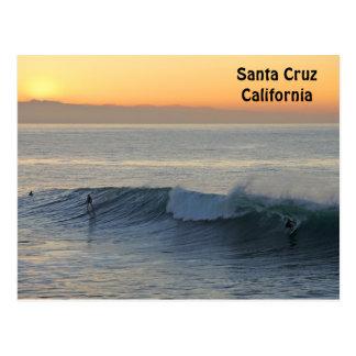 Santa Cruz Surfing at Sunrise Postcard