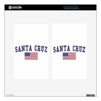 Santa Cruz US Flag Decals For Kindle Fire