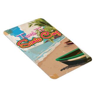 Santa Cruz Vintage vacation Poster Magnet
